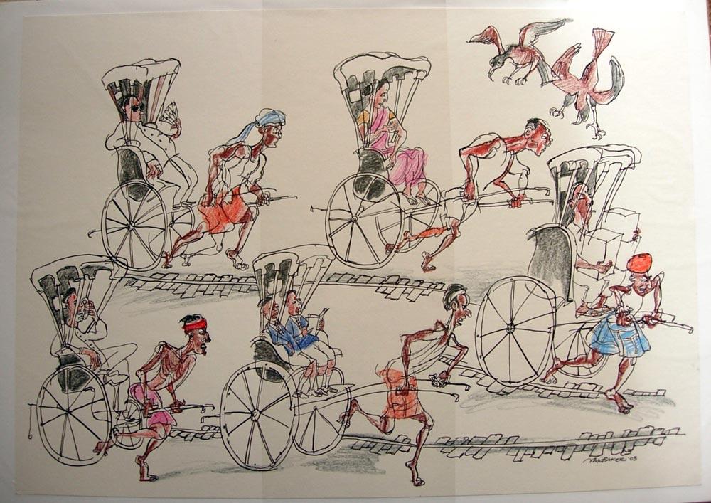 'Rickshaw men'