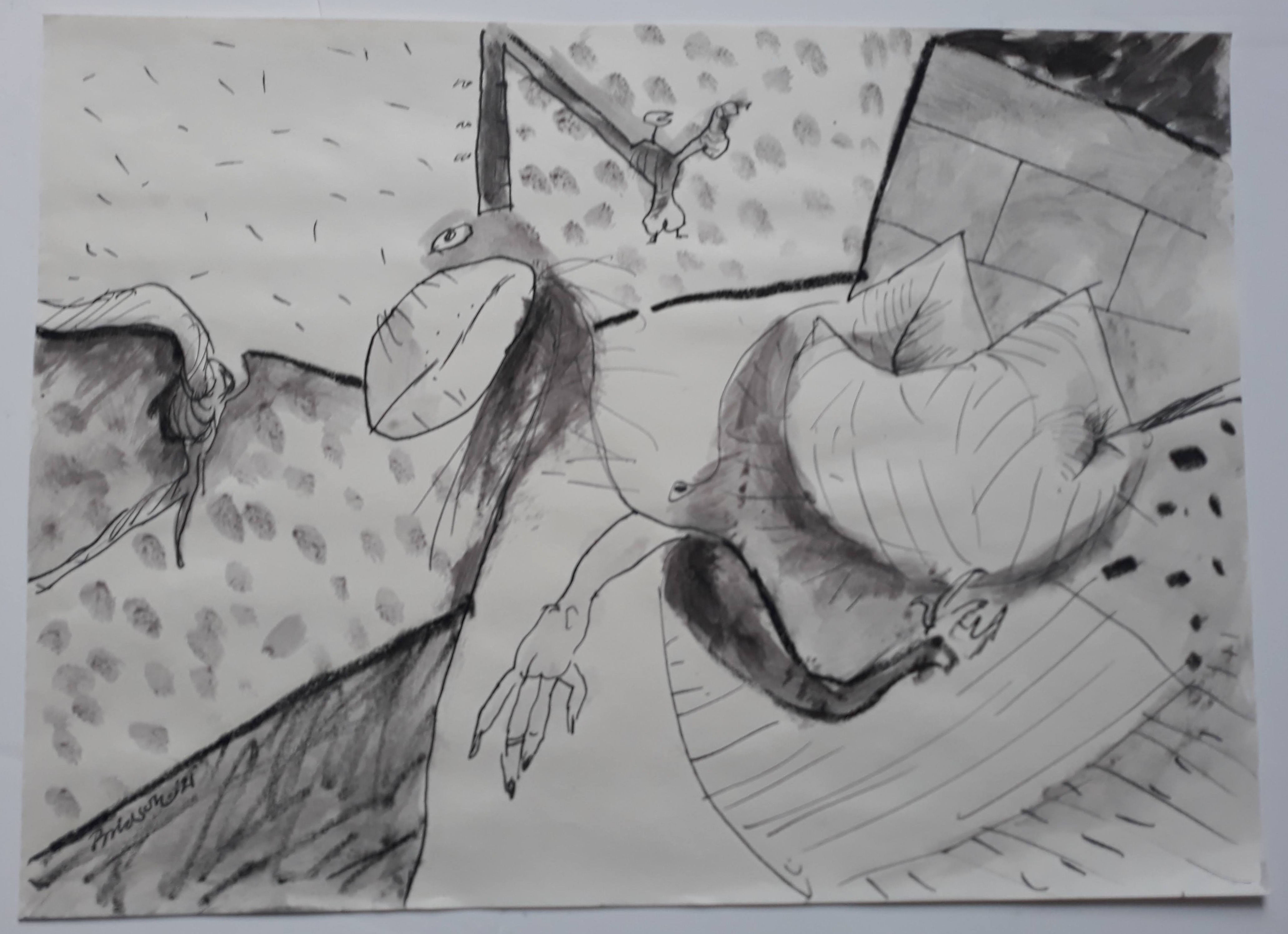 'Two-hands',  2021, 30 cm x 41 cm