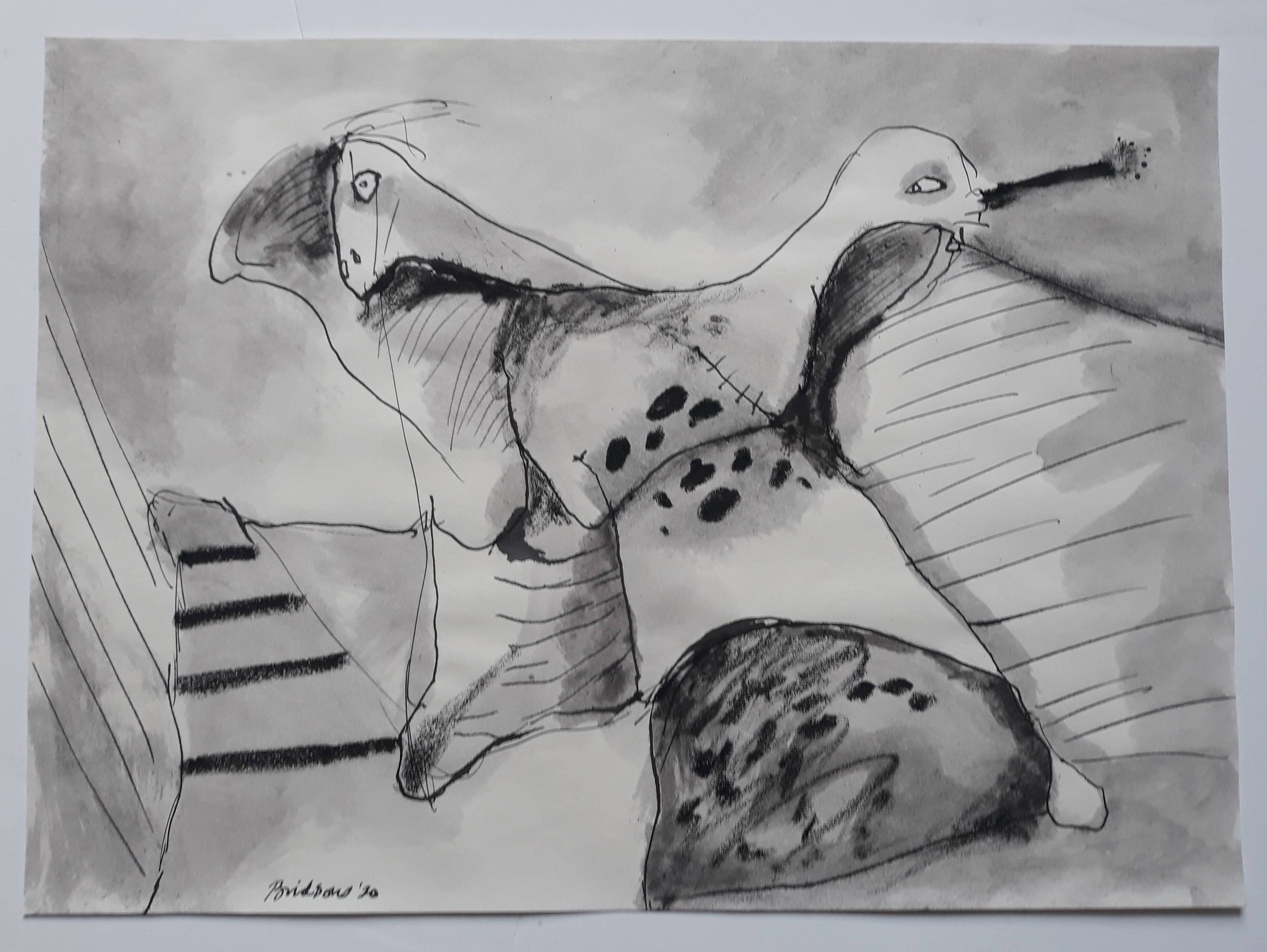 'Two Heads',  2020, 30 cm x 41 cm
