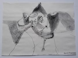 'Flight',  Jan 1st 2021, 30 cm x 41 cm