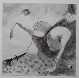 'Lost eye',  2021, 30 cm x 30 cm