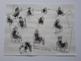 'Waiting Fifteen Minutes',  2021, 30 cm x 41 cm