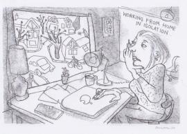'At Home'. Drawn during Lockdown, 2020
