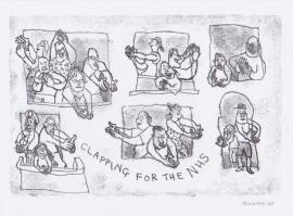 'Clapping NHS'. Drawn during Lockdown, 2020