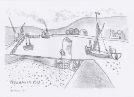 'Newhaven 1961 The Hope'. Drawn during Lockdown, 2020