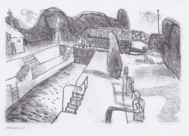 'The Mysterious lock'. Drawn during Lockdown, 2020
