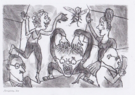 'Wild'. Drawn during Lockdown, 2020