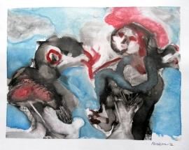 'Girl and bird'