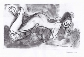 'Woman lying down'