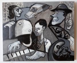 'Piano'. Oil on canvas 60x50cm, 2018