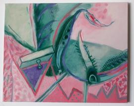 'Purple triangle'. Oil on canvas 51x40cm, 2020