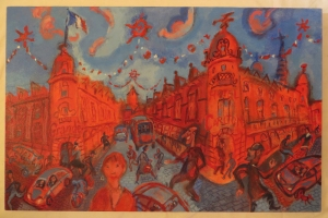 'Red and blue Lille'