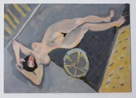 'Upsidedown after Goya'. Oil on board 42x30cm, 2019