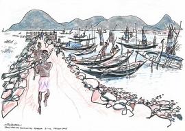 Chilika Lake Orissa India 2002