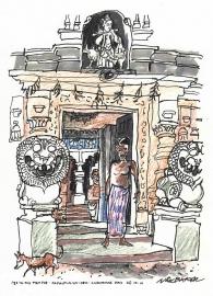 Temple at Gopalpur-on-Sea Orissa India 2001
