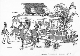 Cart at Bluefields Nicaragua 1988